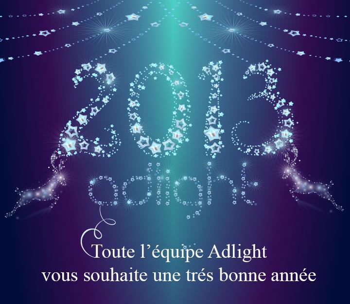 Adlight vous souhaite une bonne année 2013