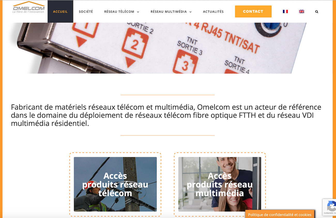 OMELCOM - Site internet Catalogue - Vitrine